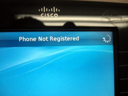 Phone not registered