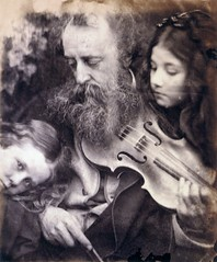 The Whisper of the Muse, G.F. Watts and children, 1865, by Julia Margaret Cameron