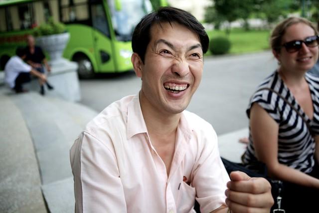 Mister Lee outside some restaurant