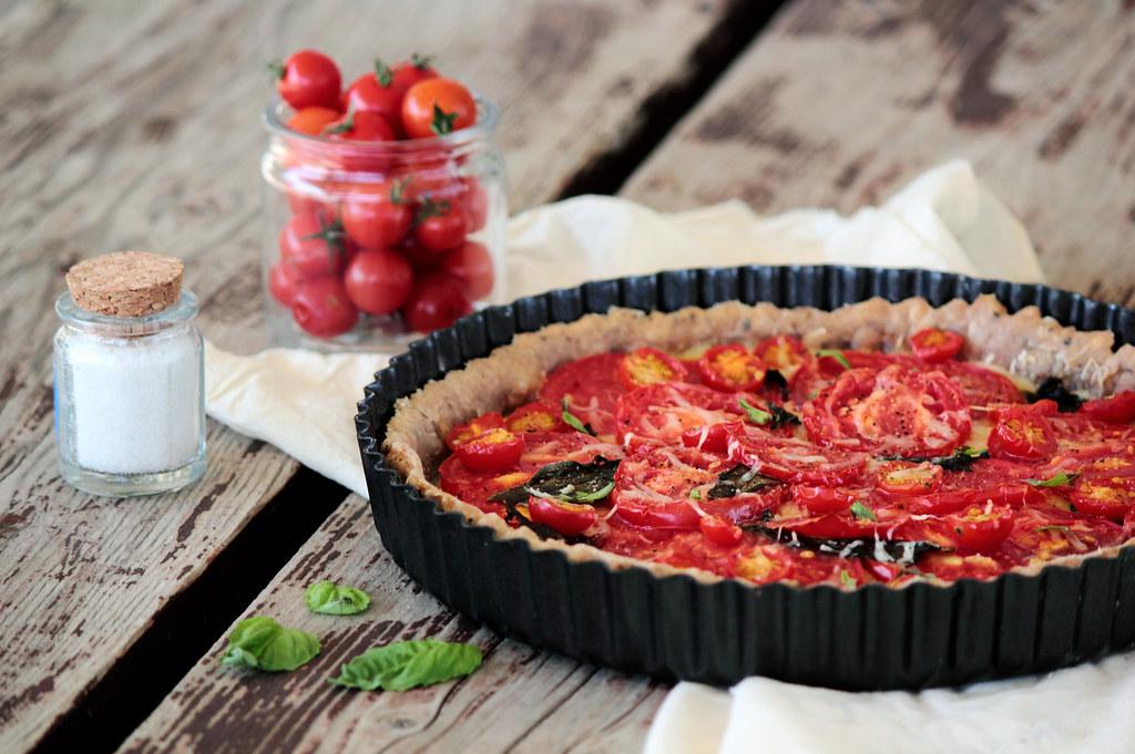 Garden Tomato & Basil Tart