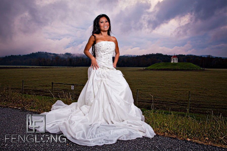 Roadside Beauty | Khammy's Bridal Portrait Session | Anna Ruby Falls | Helen, GA Wedding Photographer