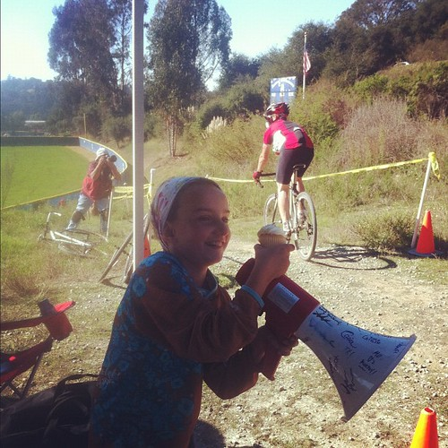 Cupcake + Megaphone = Heckle Machine #cyclocross