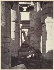 Hypostyle hall at Karnak, Upper Egypt, by Adolphe Braun