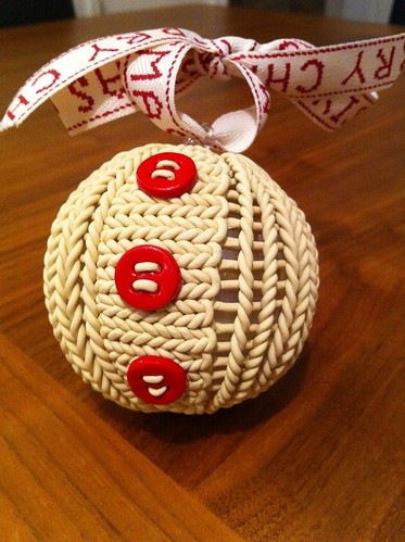Second knitted bauble