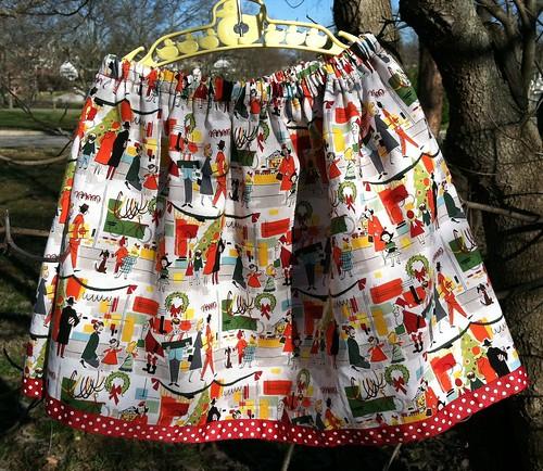 christmas shopping play skirt