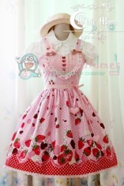 White moon pink alice sweetheart lolita dress