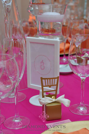 Table Number in white frame