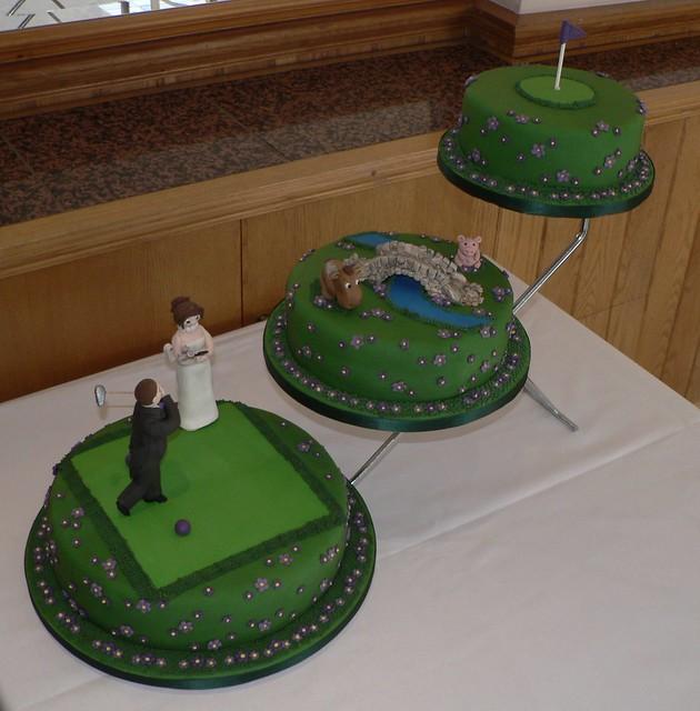 3 Tier Golf Themed Wedding cake  Flickr  Photo Sharing