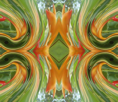 makethefour-flower distorted twirled