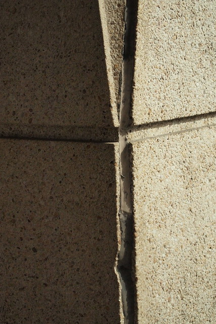 Detail of the concrete pier at 909 Third Avenue. Photo by Ellen Brenna Dougherty