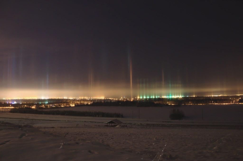 Light Pillars over Fairbanks