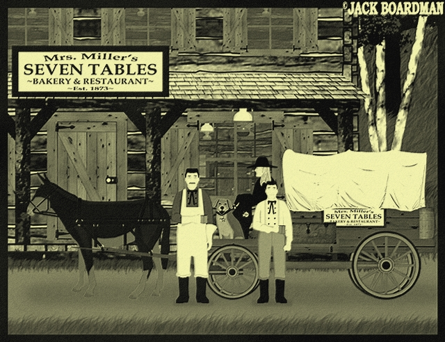 Her small one-horse wagon was loaded for an adventure ©2012 Jack Boardman