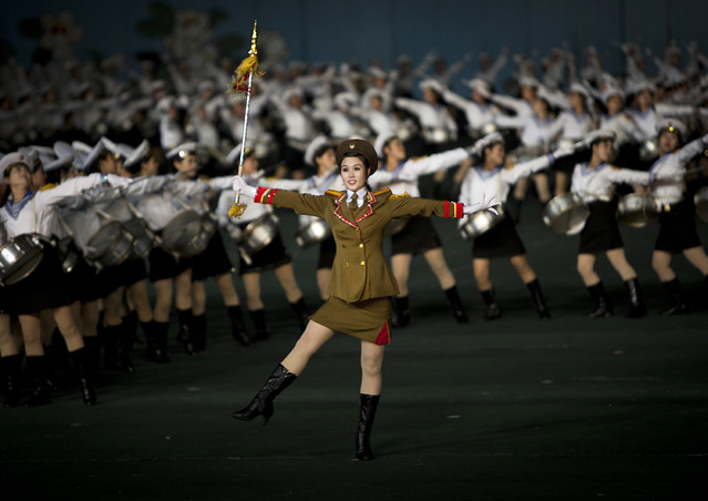 Sexy army in Arirang Mass Games in May Day stadium Pyongyang- North Korea