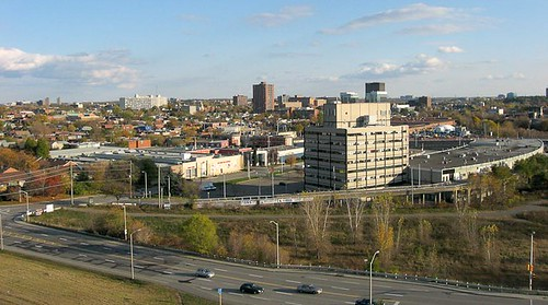 Aerial photograph of the City Centre building near Lebreton Flats. - Kite Aerial Photography