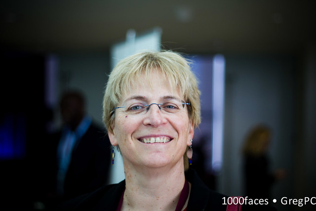 Face - smiling woman with glasses