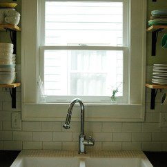How To Replace Kitchen Cabinets Faucets Amazon Our New Window And Open Shelving