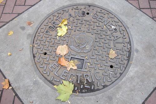 Portland, Oregon manhole cover