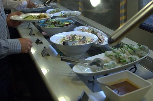 Salads, spring rolls