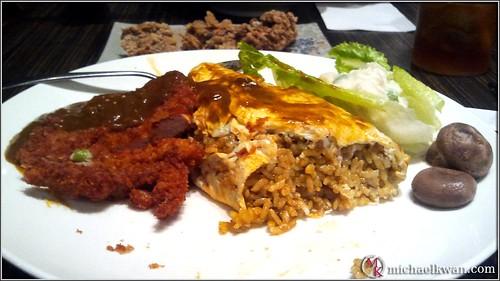 Curry Omurice with Tonkatsu