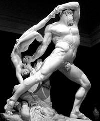 Canova's Hercules and Lichas, 1795, photographer unknown