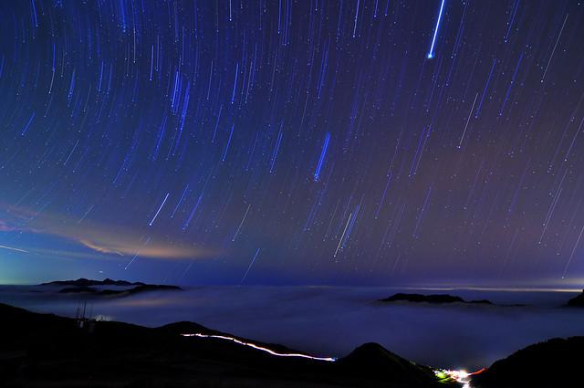 Meteor shower 流星雨 @合歡山