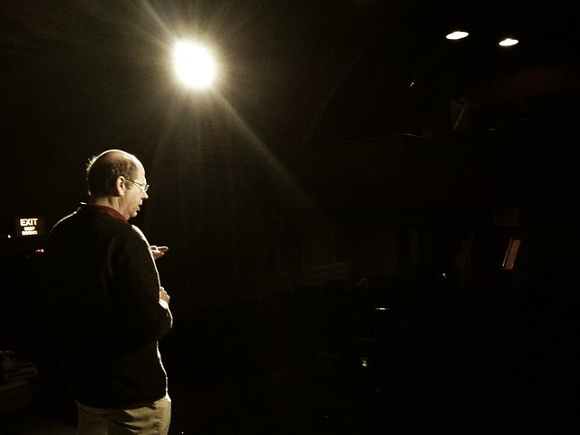 Photo: Tech Check at the Brattle (t-minus 2.5 hours till the show!)