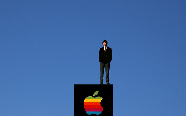 Steve Jobs and the clear blue sky by Sigalakos