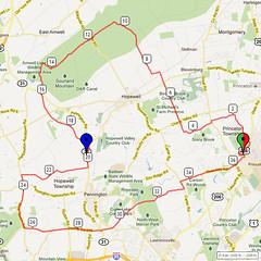 10. Bike Route Map. Princeton NJ