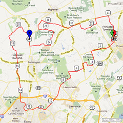 12. Bike Route Map. Princeton NJ