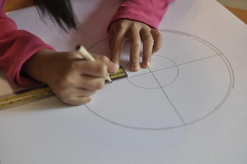 生活用品也是製圖工具:畫西瓜棋盤(7.6ys)