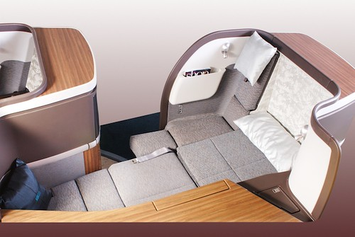 Cathay Pacific First Class Flat Bed by bloompy