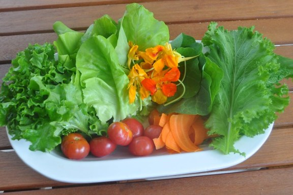 Farmers' Market Salad with produce from Placita Roosevelt