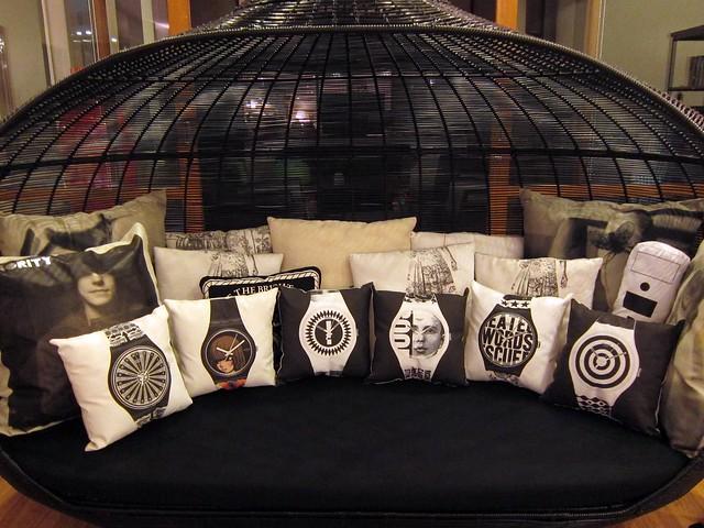 All my throw pillows