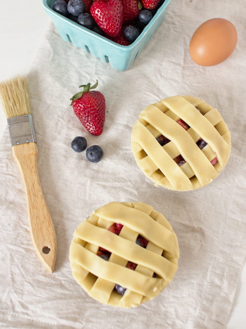 mixed berry lattice pies