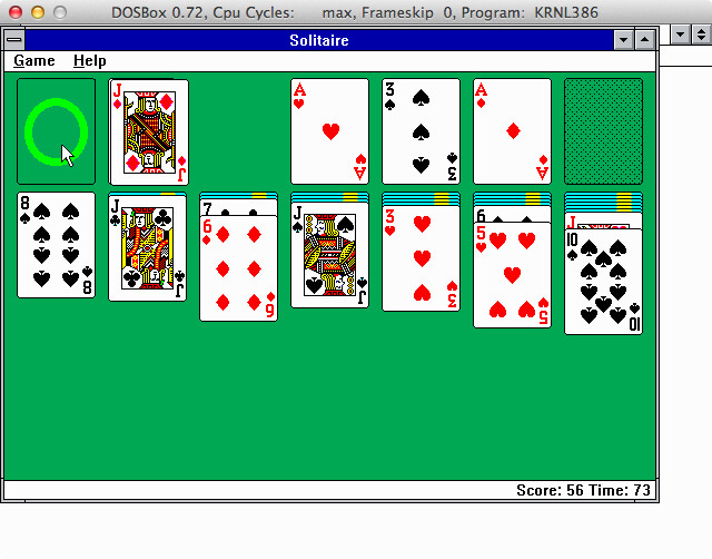 Windows Solitaire on Mac