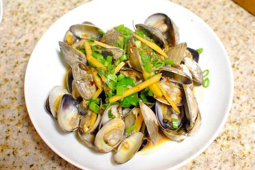 clams in black bean sauce