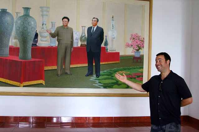 Jordan Harbinger Looking at Kim Jong Il Look at Things