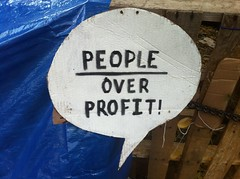 """People over profit!"""