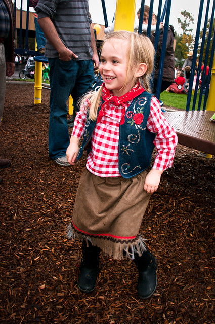 sadie cowgirl at the monster march playground 2