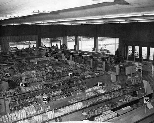 View of an old supermarket
