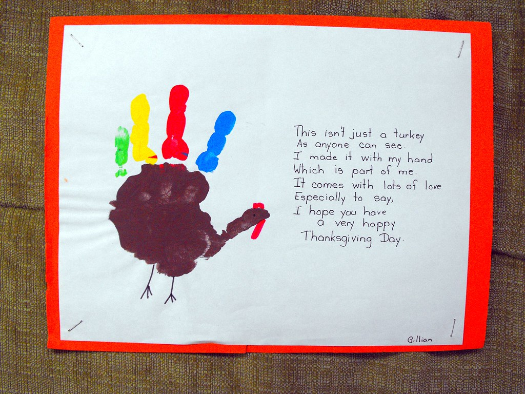 Day 28 Paint With Your Fingers Turkey Art