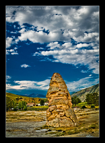 Liberty Cap, Mammoth Hot Springs, Yellowstone National Park by Somnath Mukherjee Photoghaphy