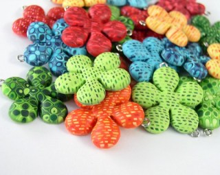 polymer clay flowers 801