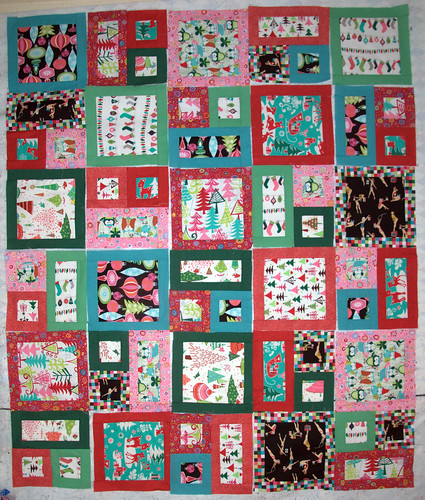 the LOUDEST xmas quilt in the world...
