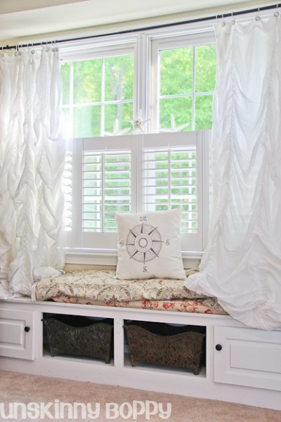 home office window bench This weeks DIY Crush: Pottery Barn Inspired Home Office - DIY Show Off ™ - DIY Decorating and