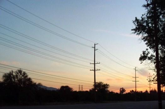 Sunset Over An Orange Field