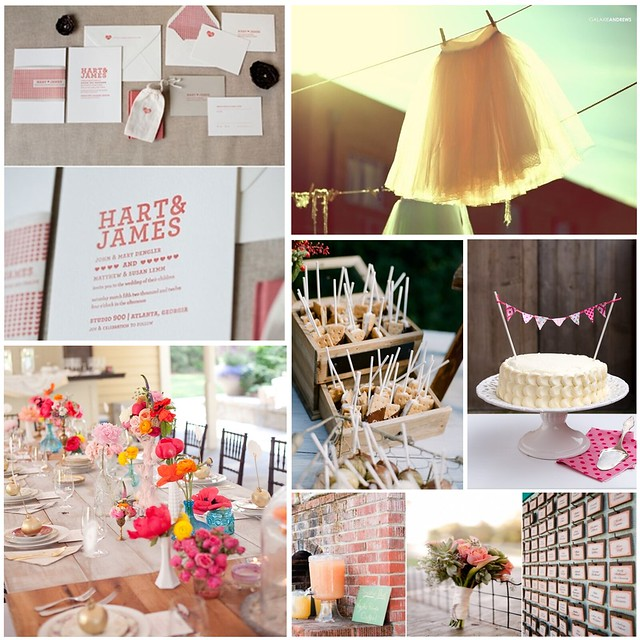 pink wedding inspiration board