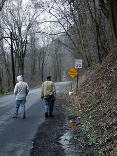 Juniata Valley Audubon members on the River Road