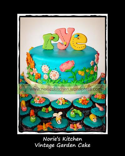 Norie's Kitchen - Vintage Garden Cake by Norie's Kitchen