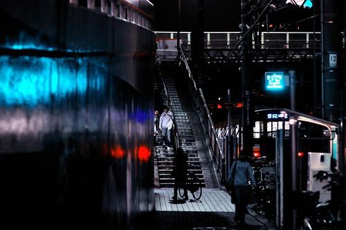 Stairs at Night, Ikebukuro, Tokyo by hidesax